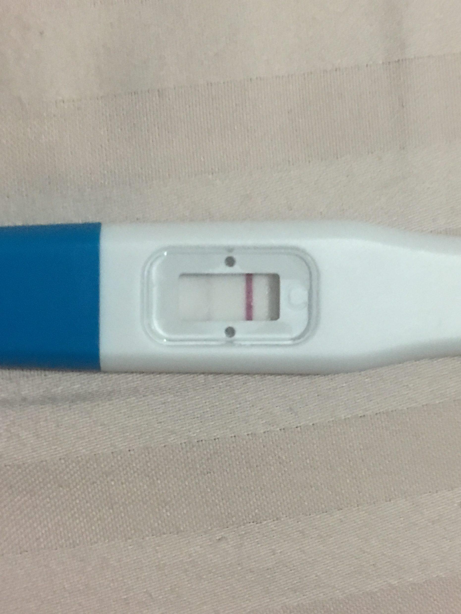 Imagem de teste de gravidez feita no 10º dia.
